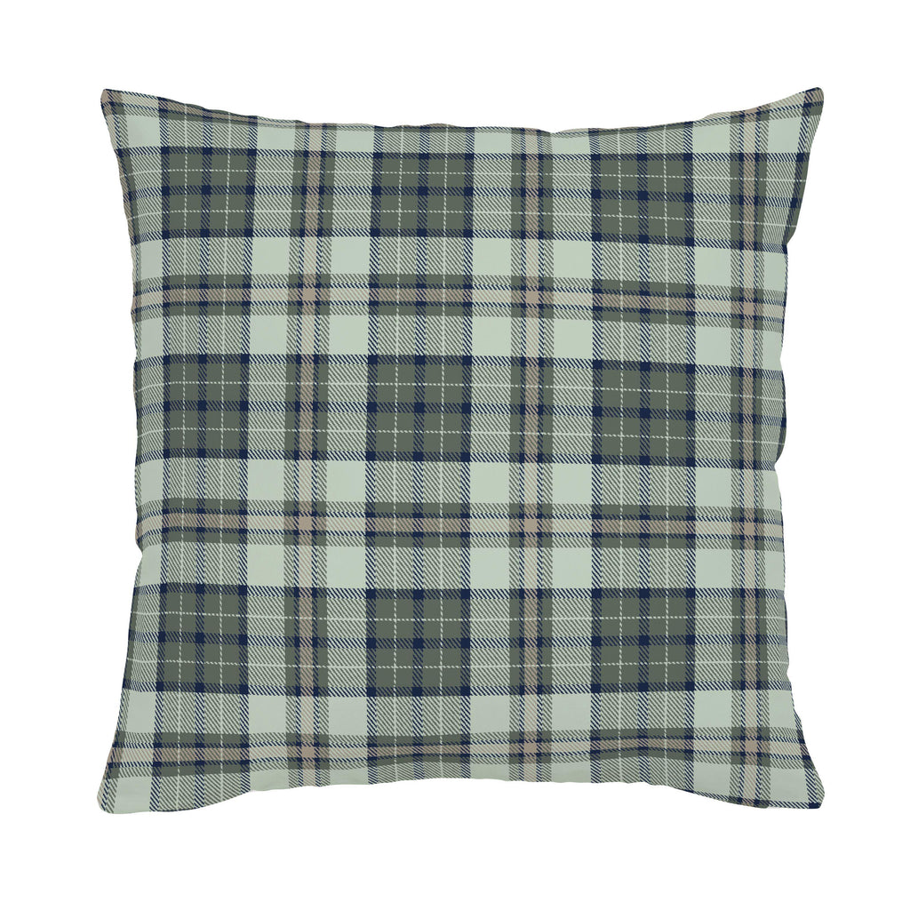 Product image for Navy and Seafoam Plaid Throw Pillow