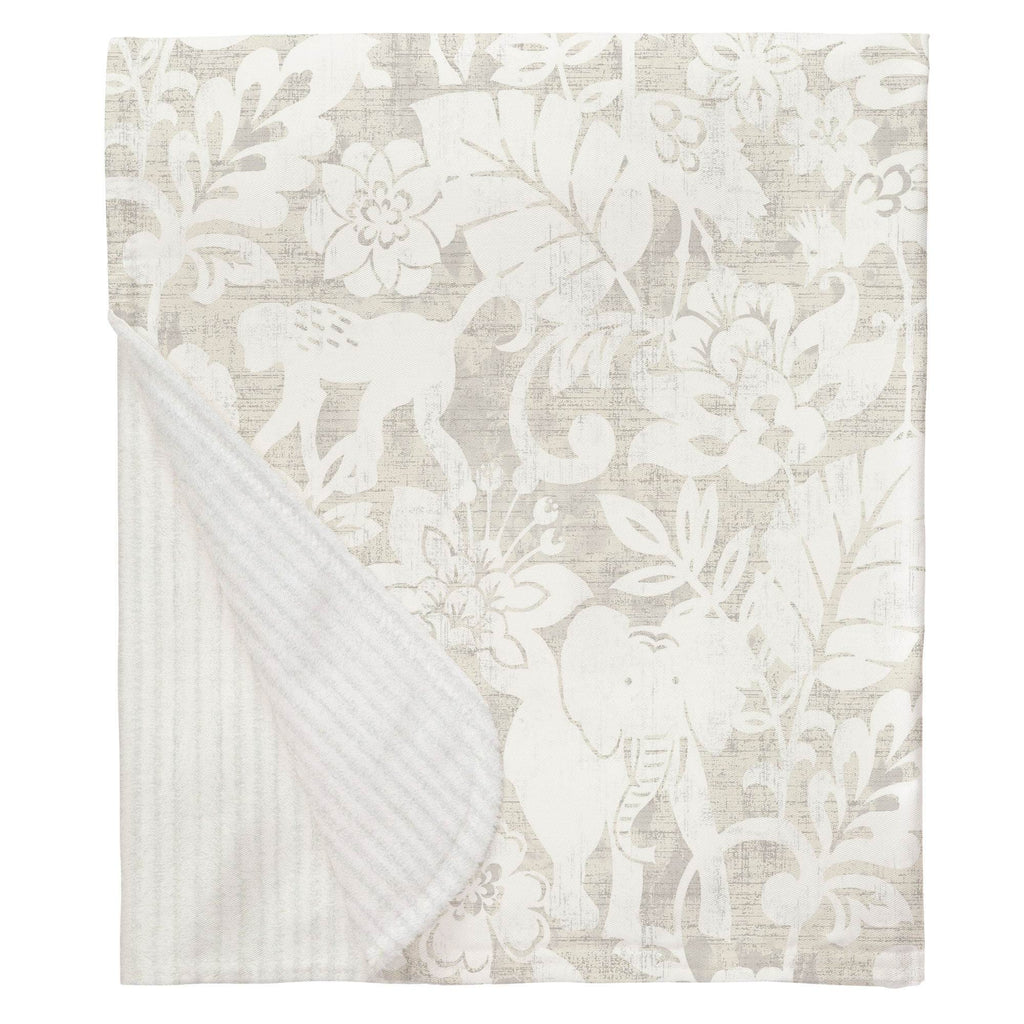 Product image for French Gray and White Jungle Baby Blanket