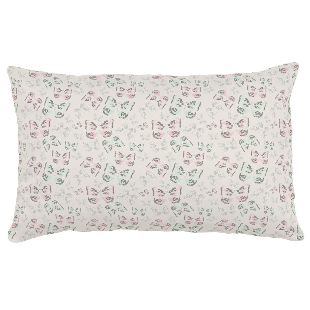 Product image for Blush and Ivory Butterfly Lumbar Pillow