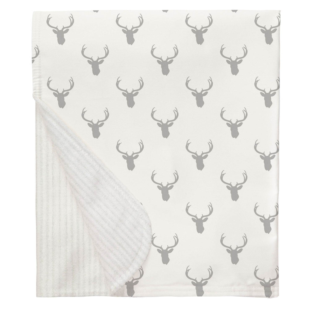 Product image for Silver Gray Deer Silhouette Baby Blanket