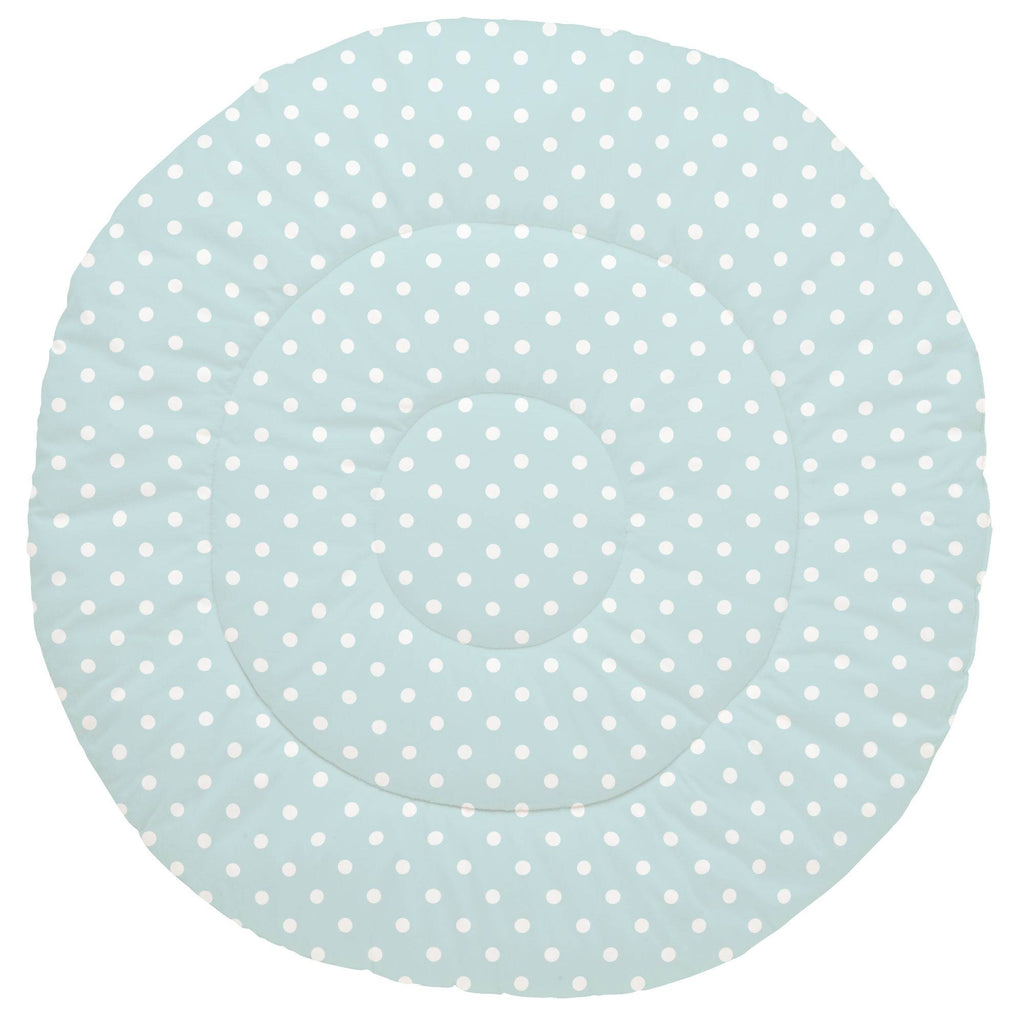 Product image for Mist and White Polka Dot Baby Play Mat