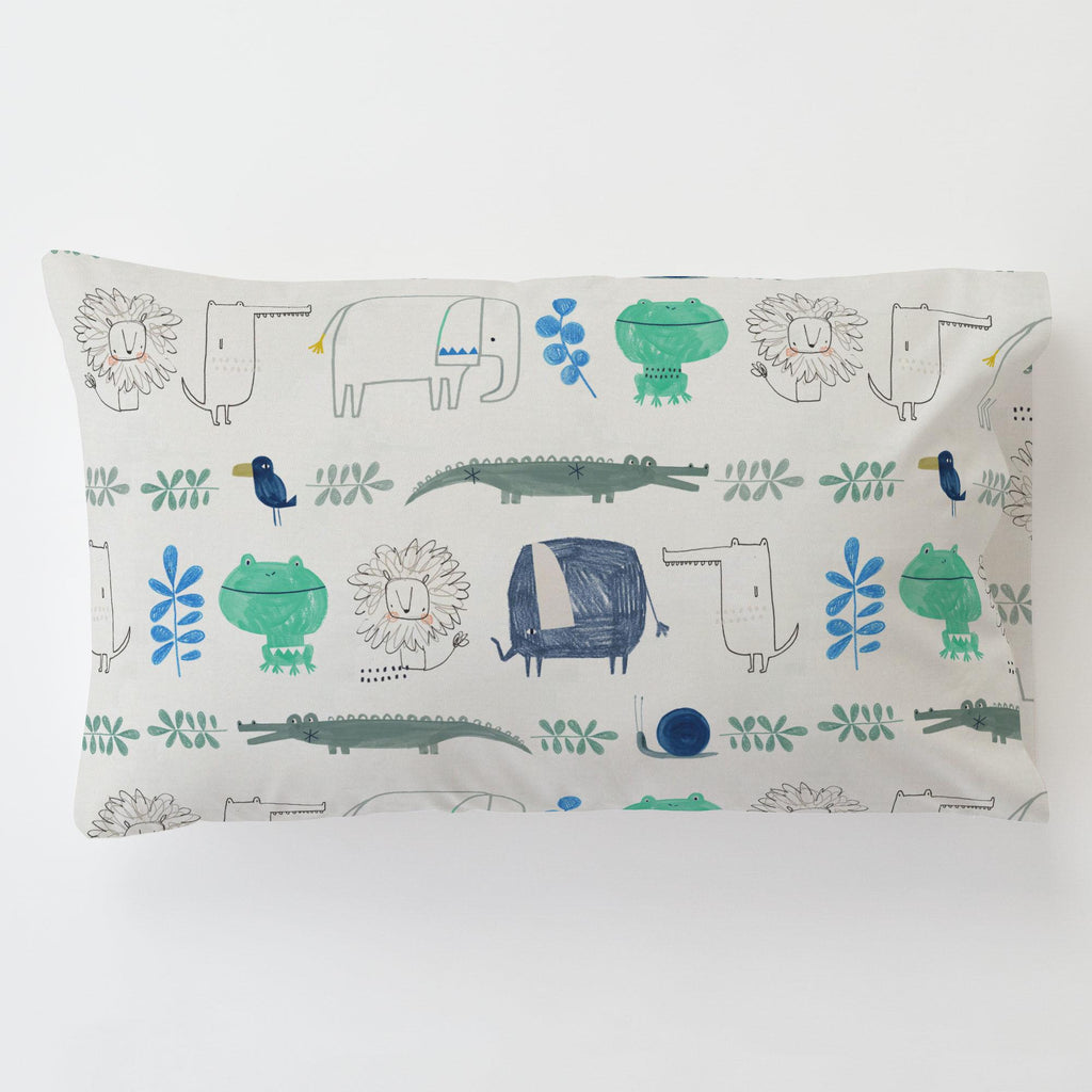 Product image for Safari Friends Toddler Pillow Case with Pillow Insert