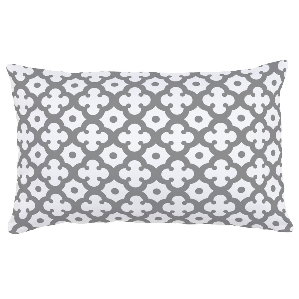 Product image for Cloud Gray Moroccan Tile Lumbar Pillow