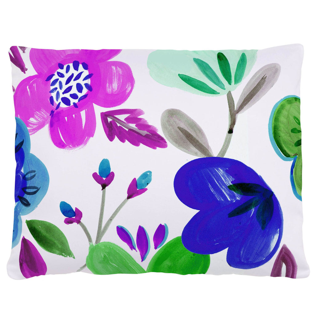 Product image for Purple Painted Flowers Accent Pillow