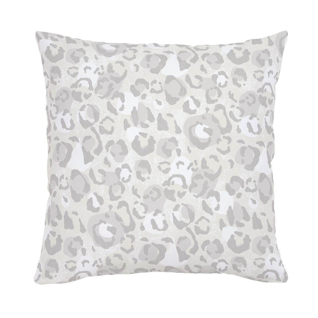 Product image for French Gray Leopard Throw Pillow