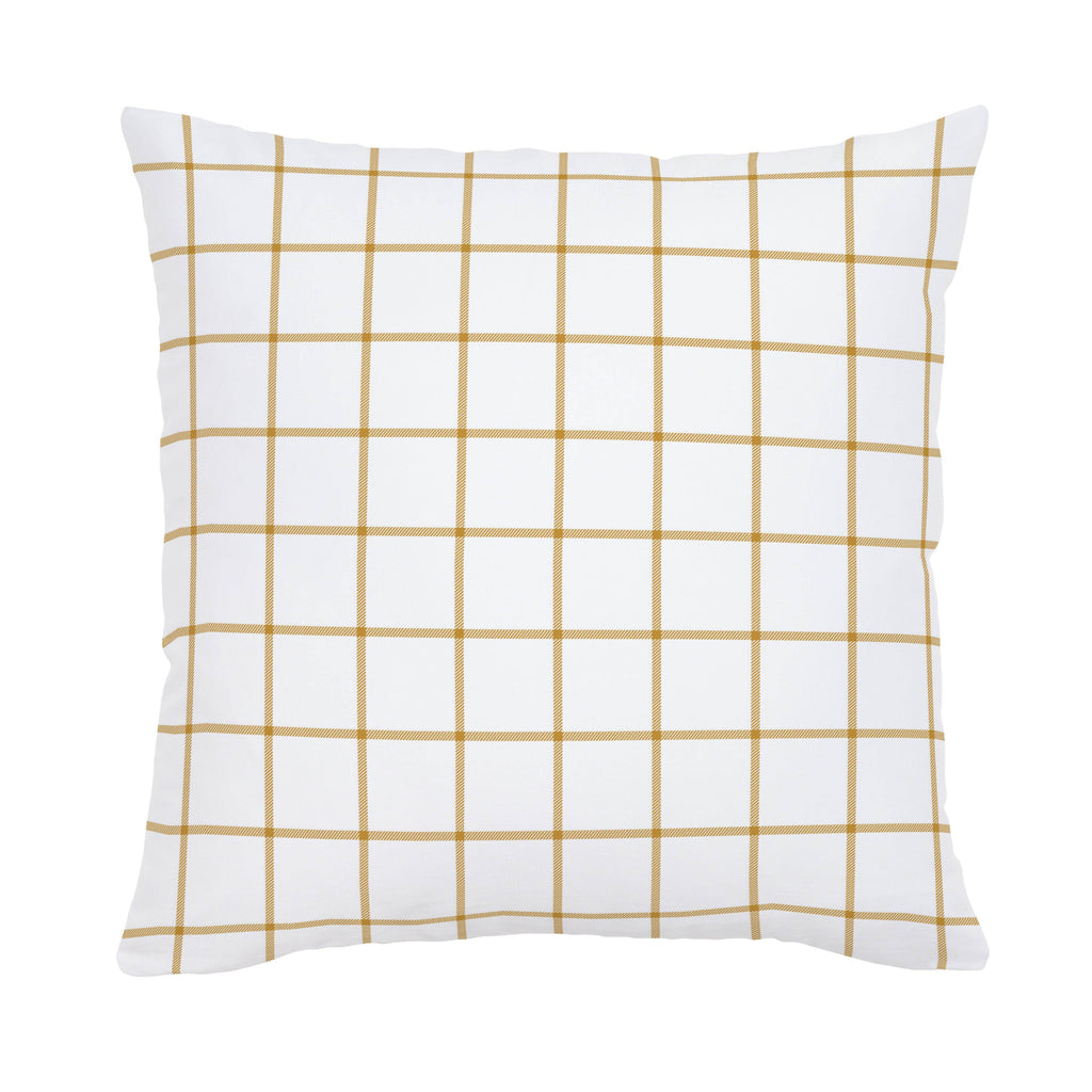 Product image for Mustard Windowpane Throw Pillow
