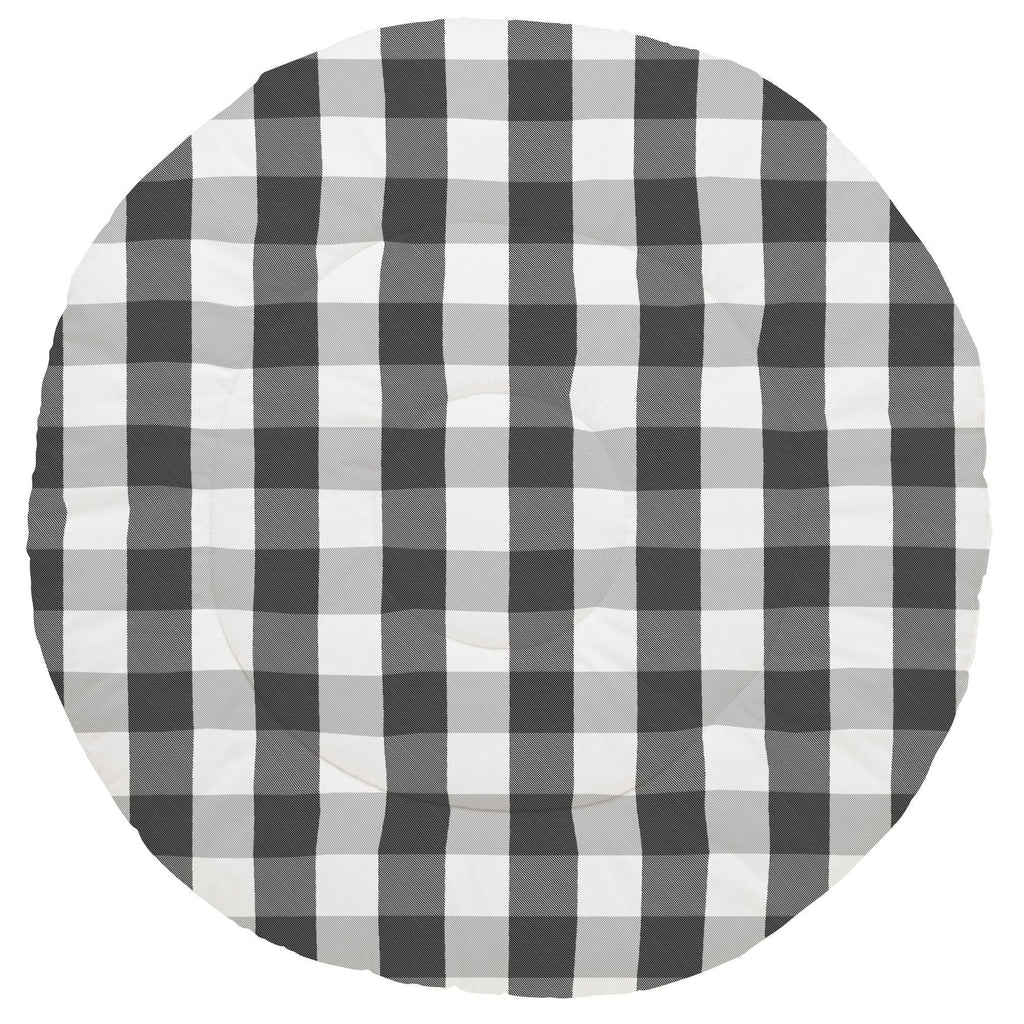 Product image for Onyx and Cloud Gray Buffalo Check Baby Play Mat