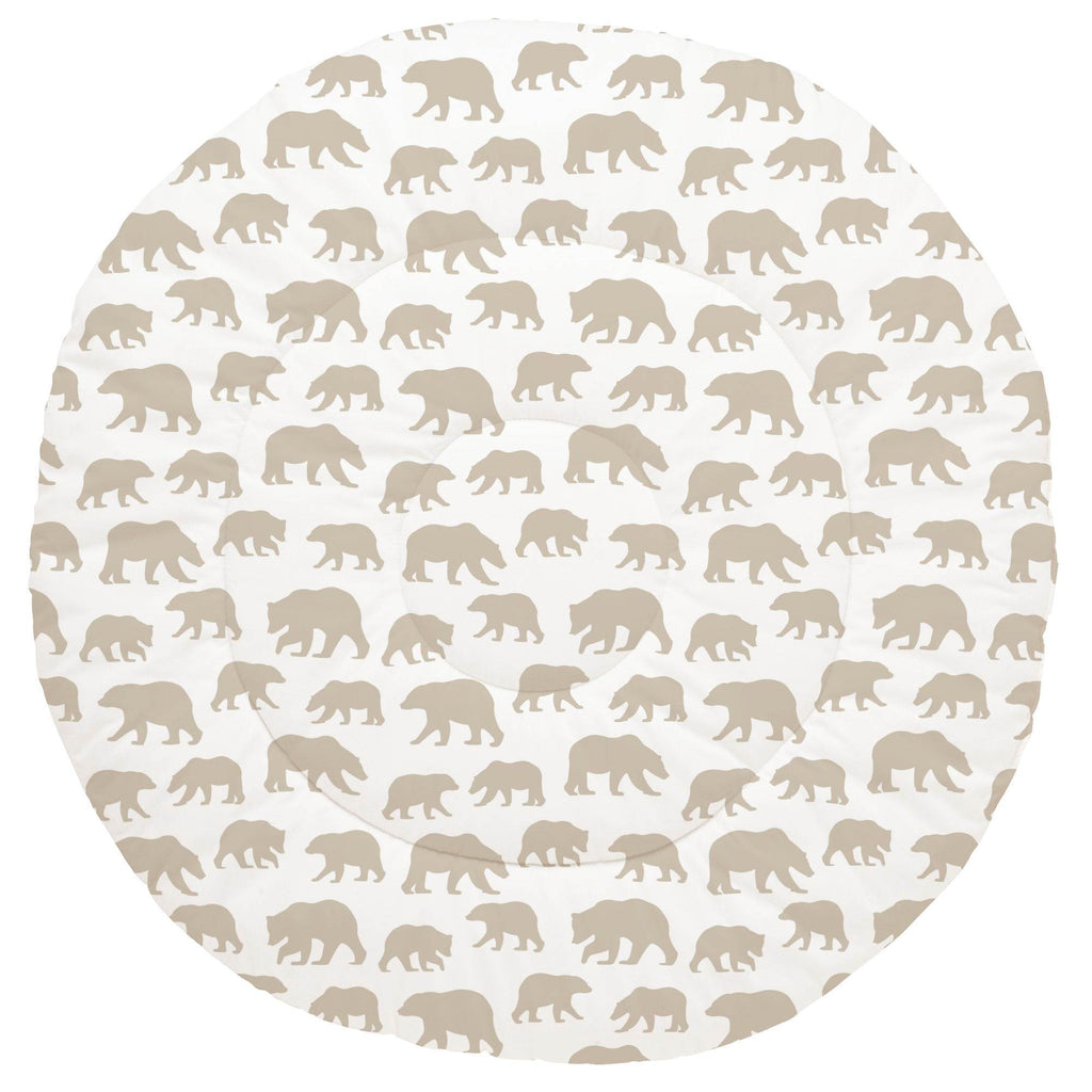 Product image for Taupe Bears Baby Play Mat