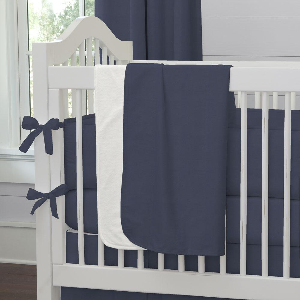 Product image for Solid Navy Baby Blanket