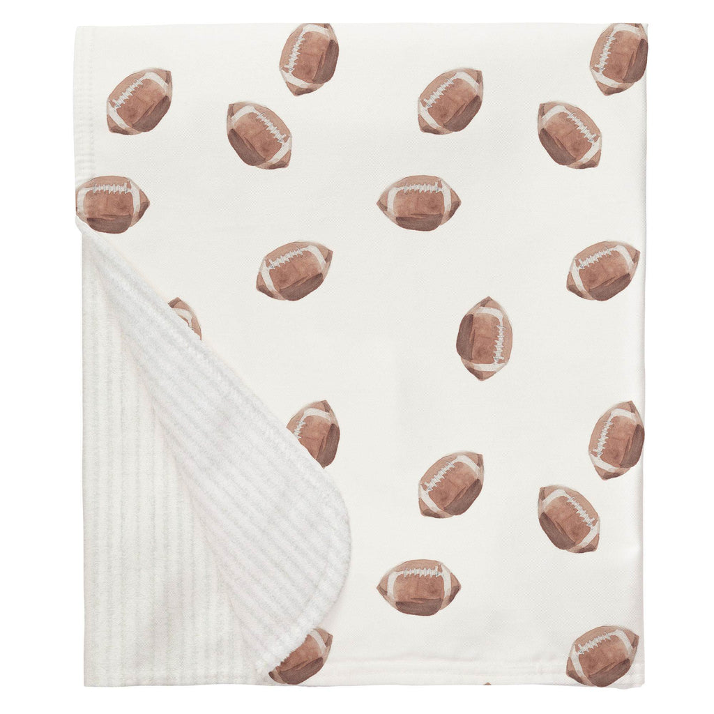Product image for Watercolor Football Baby Blanket