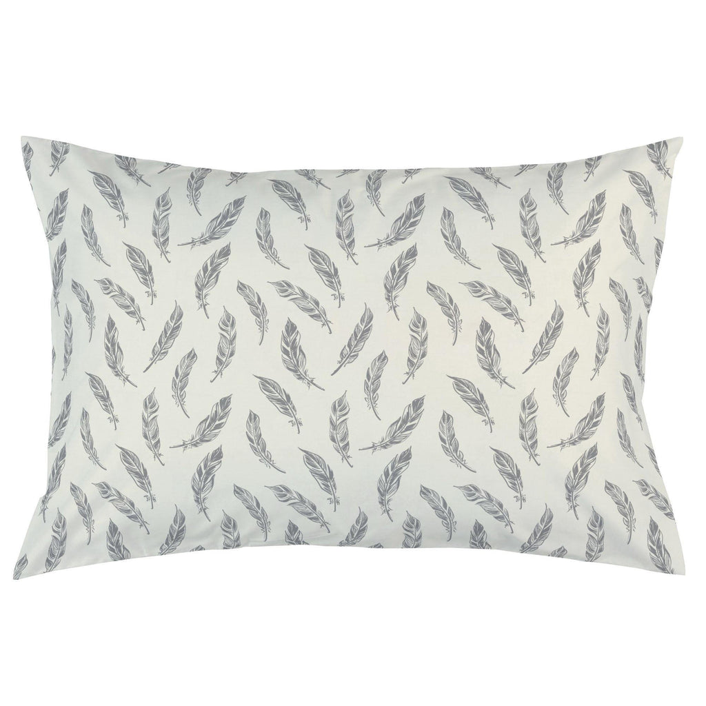 Product image for Natural Gray Feathers Pillow Case