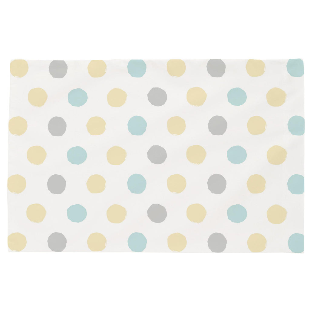 Product image for Mist and Gray Brush Dots Toddler Pillow Case