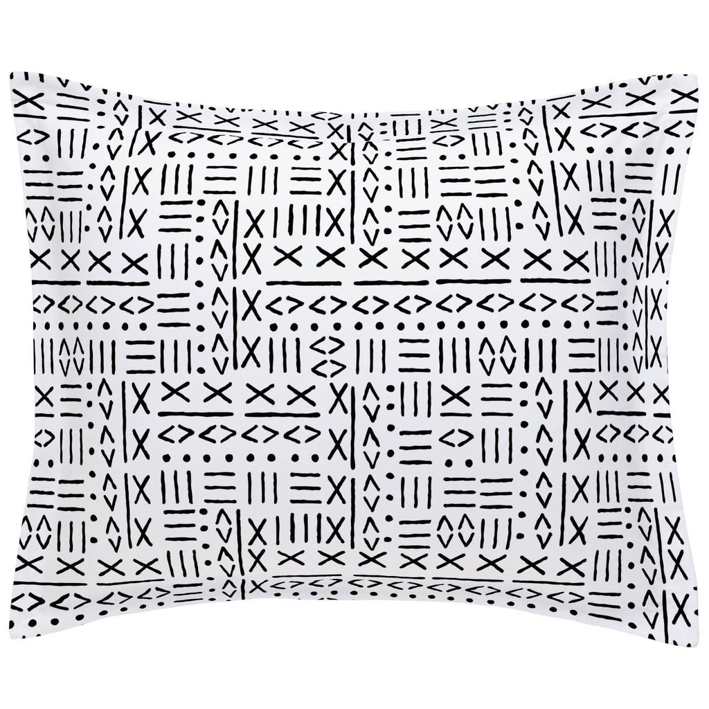 Product image for Onyx Mudcloth Pillow Sham