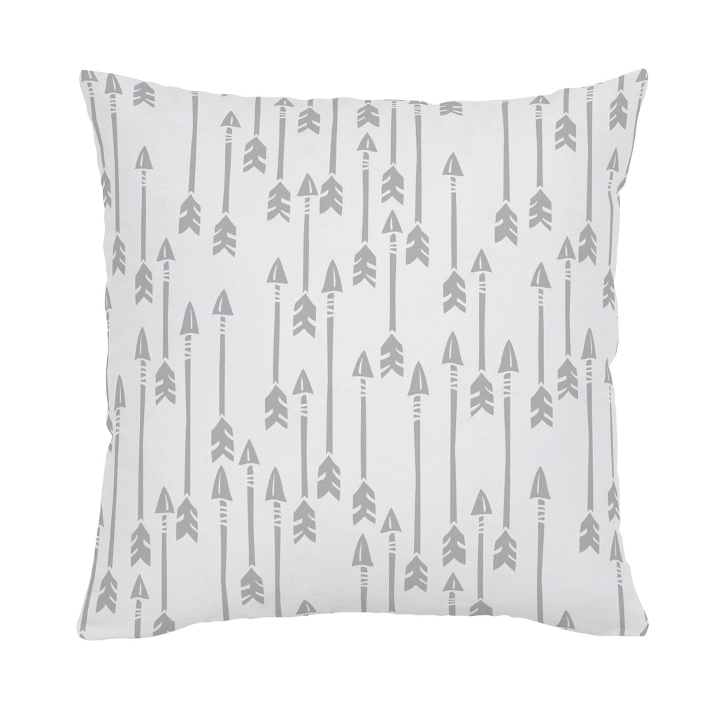 Product image for Silver Gray Flying Arrow Throw Pillow