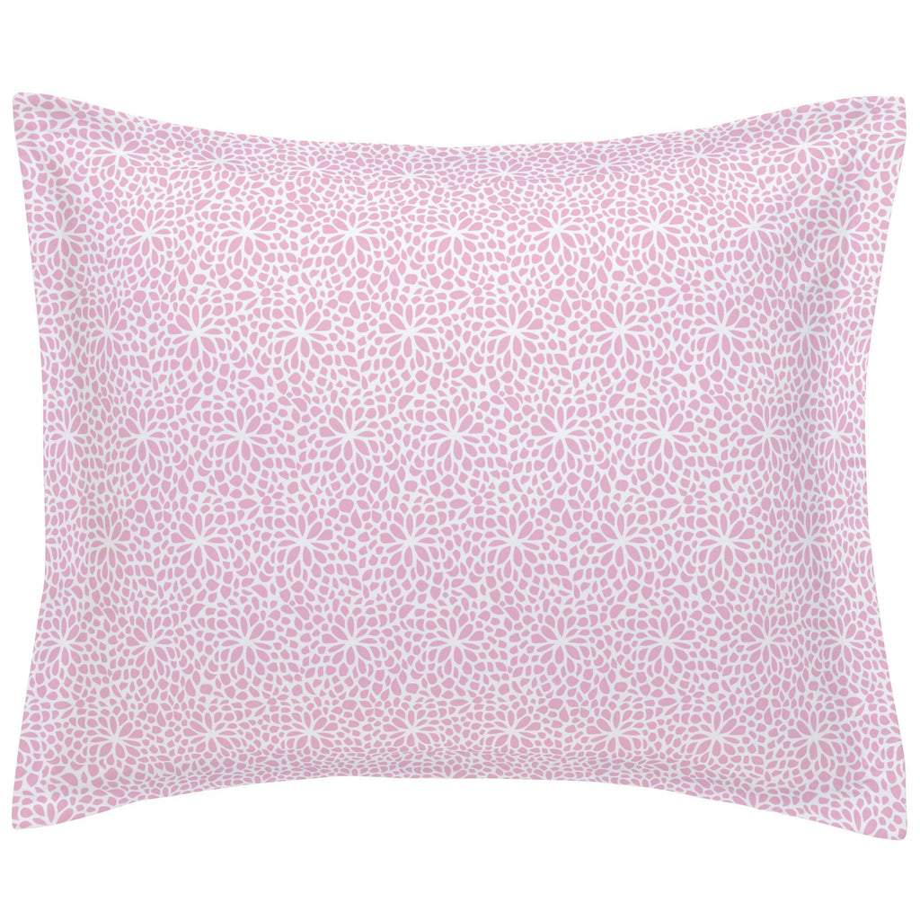 Product image for Bubblegum Pink Modern Mums Pillow Sham