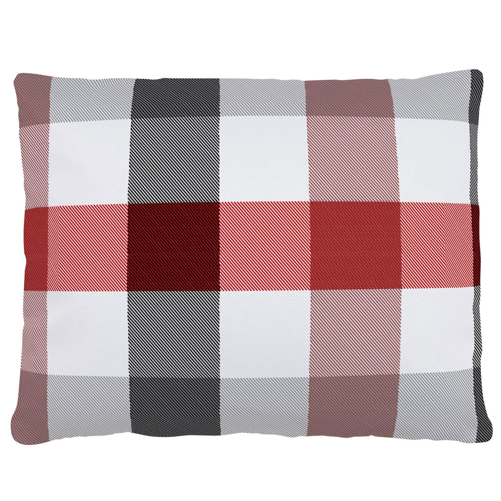 Product image for Red and Onyx Buffalo Check Accent Pillow