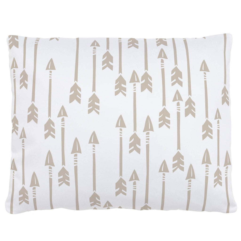 Product image for Taupe Flying Arrow Accent Pillow