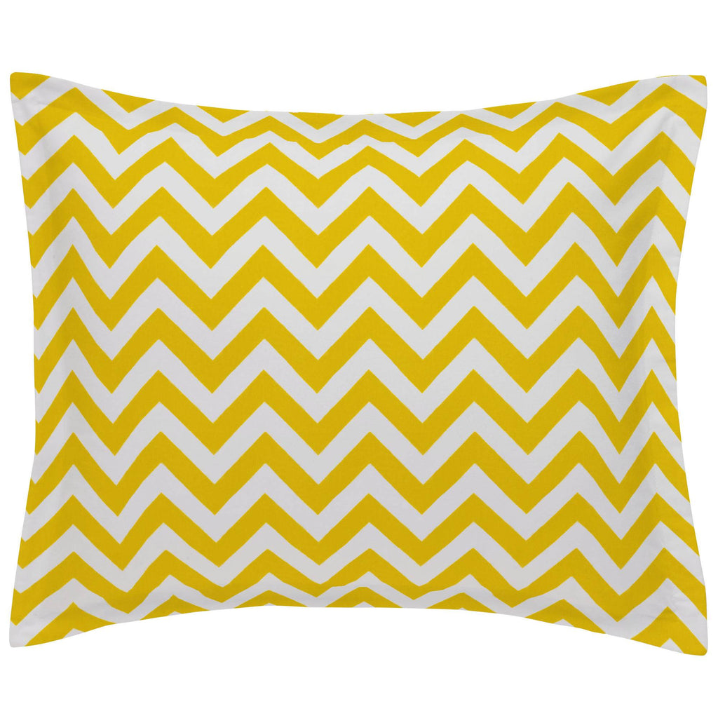 Product image for Yellow Zig Zag Pillow Sham