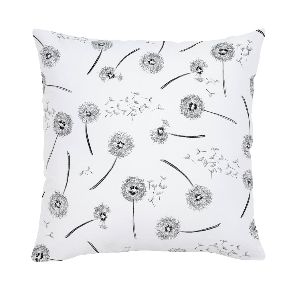Product image for Hand Drawn Dandelion Throw Pillow