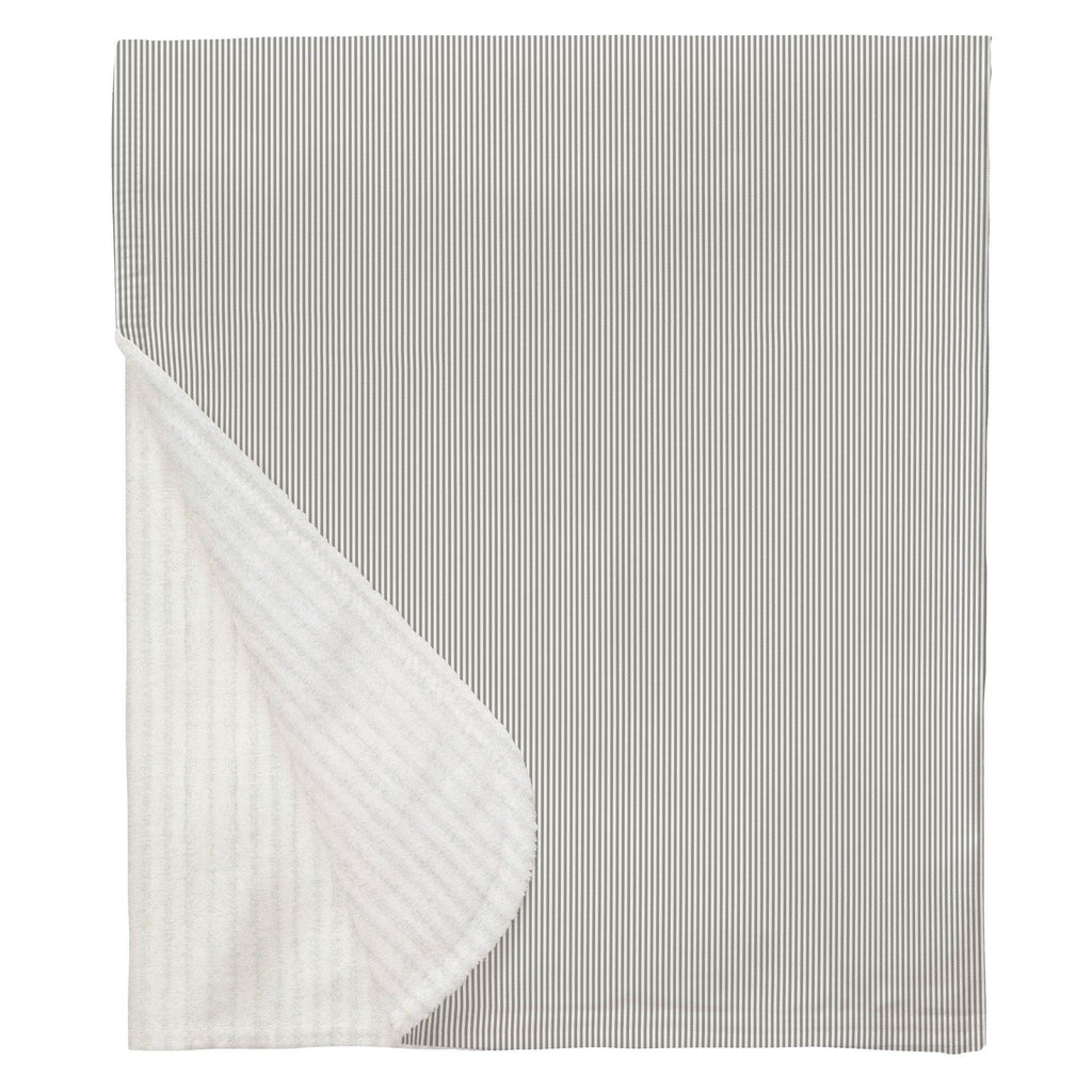 Product image for Cloud Gray Mini Stripe Baby Blanket