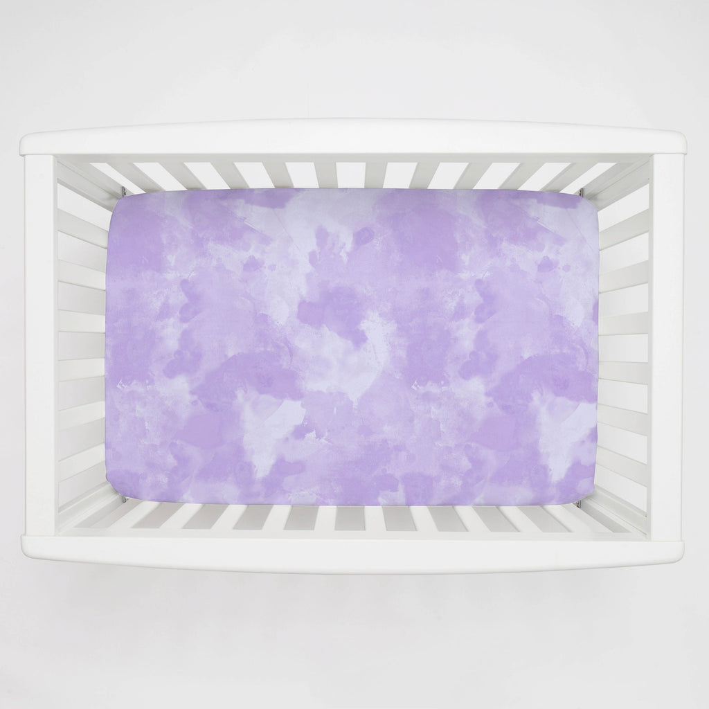Product image for Lilac Watercolor Mini Crib Sheet