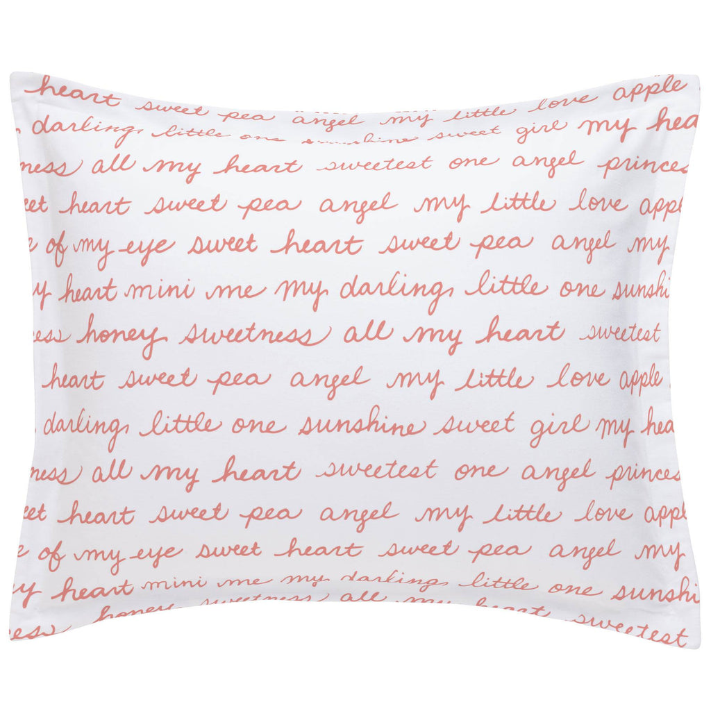 Product image for Light Coral Sweet Girl Pillow Sham