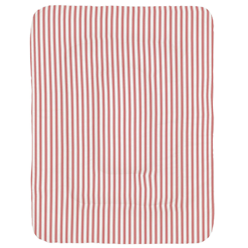 Product image for Red Ticking Stripe Crib Comforter