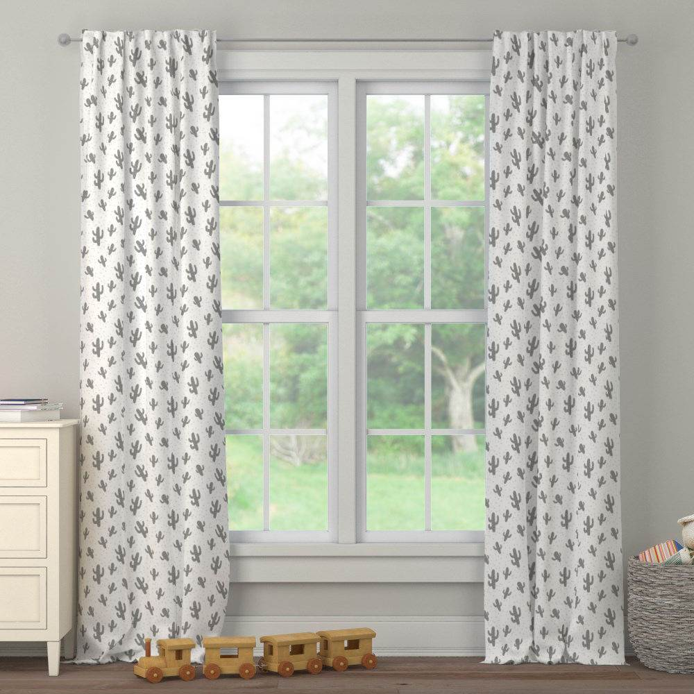 Product image for Cloud Gray Cactus Drape Panel
