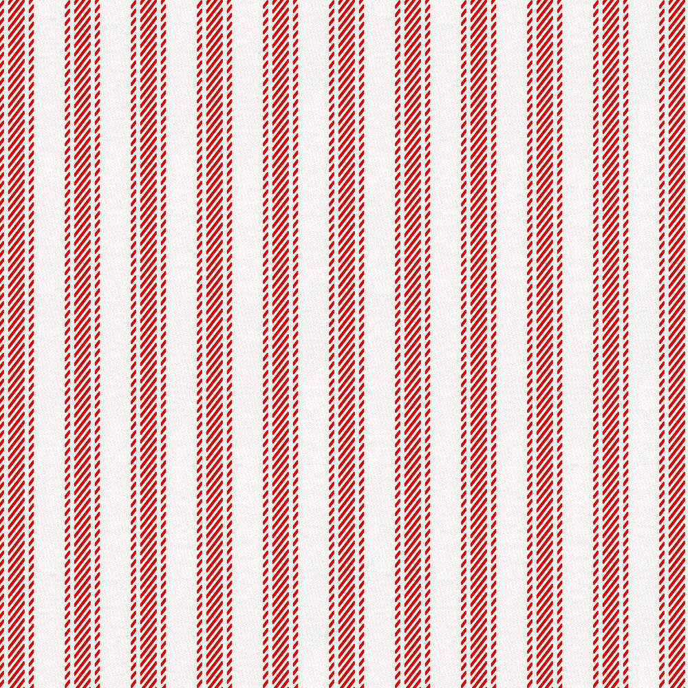 Product image for Red Ticking Stripe Fabric