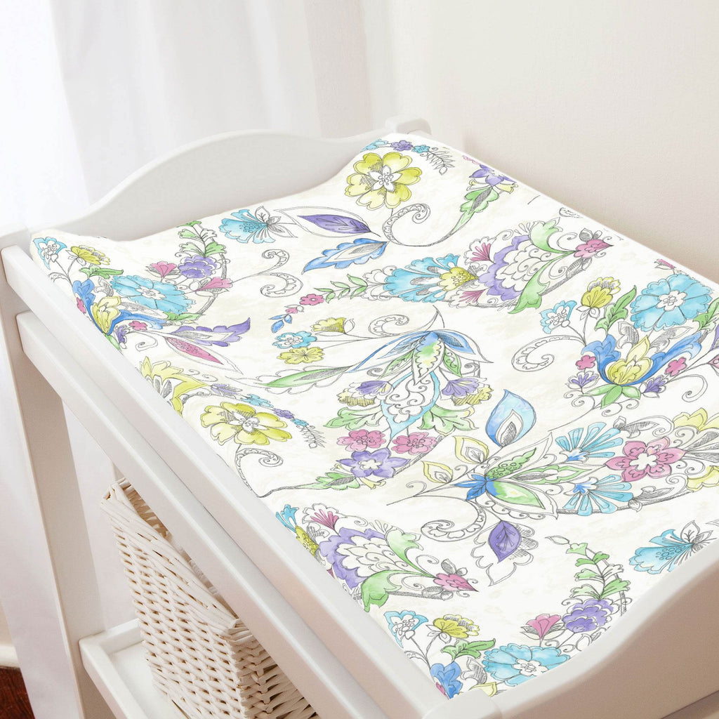 Product image for Sketchbook Floral Changing Pad Cover