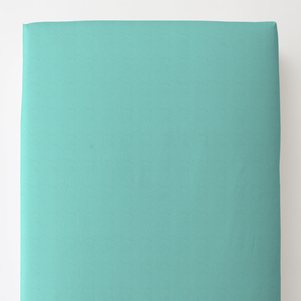 Product image for Solid Teal Toddler Sheet Bottom Fitted