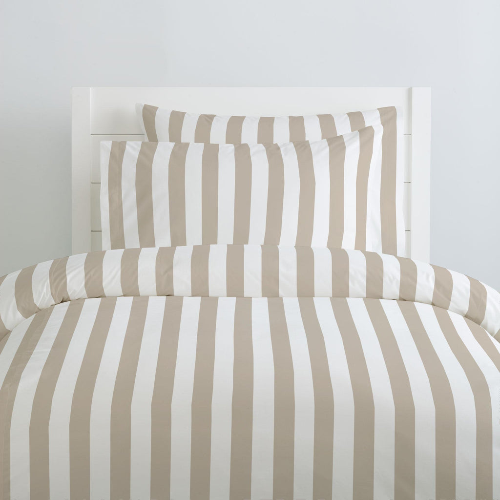 Product image for Taupe Stripe Duvet Cover