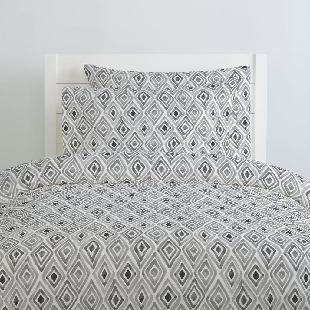 Product image for Gray Painted Diamond Duvet Cover