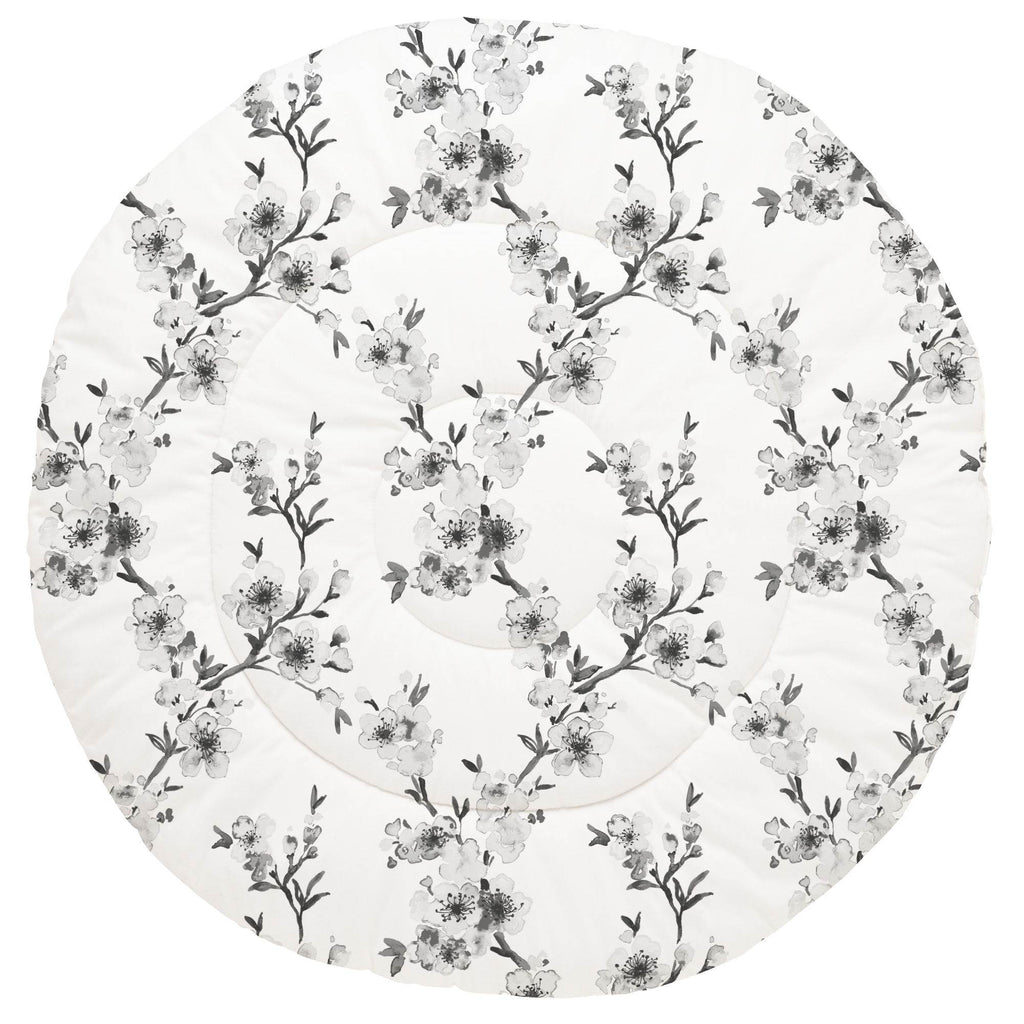 Product image for Gray Cherry Blossom Baby Play Mat