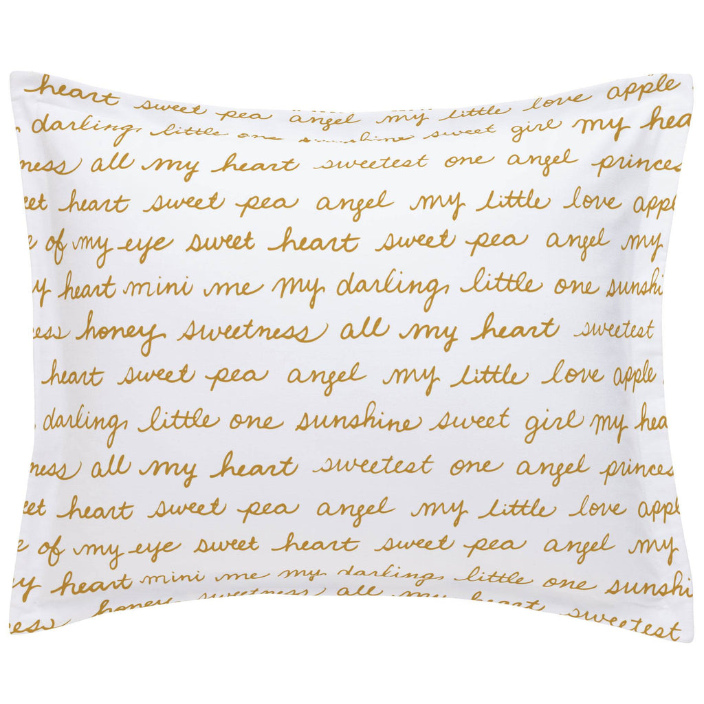 Product image for Mustard Sweet Girl Pillow Sham