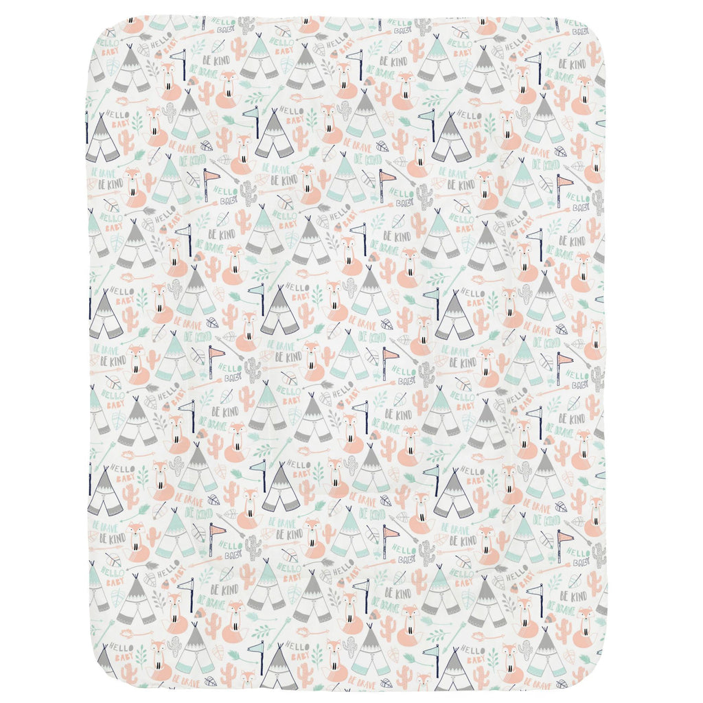 Product image for Peach Brave Fox Crib Comforter