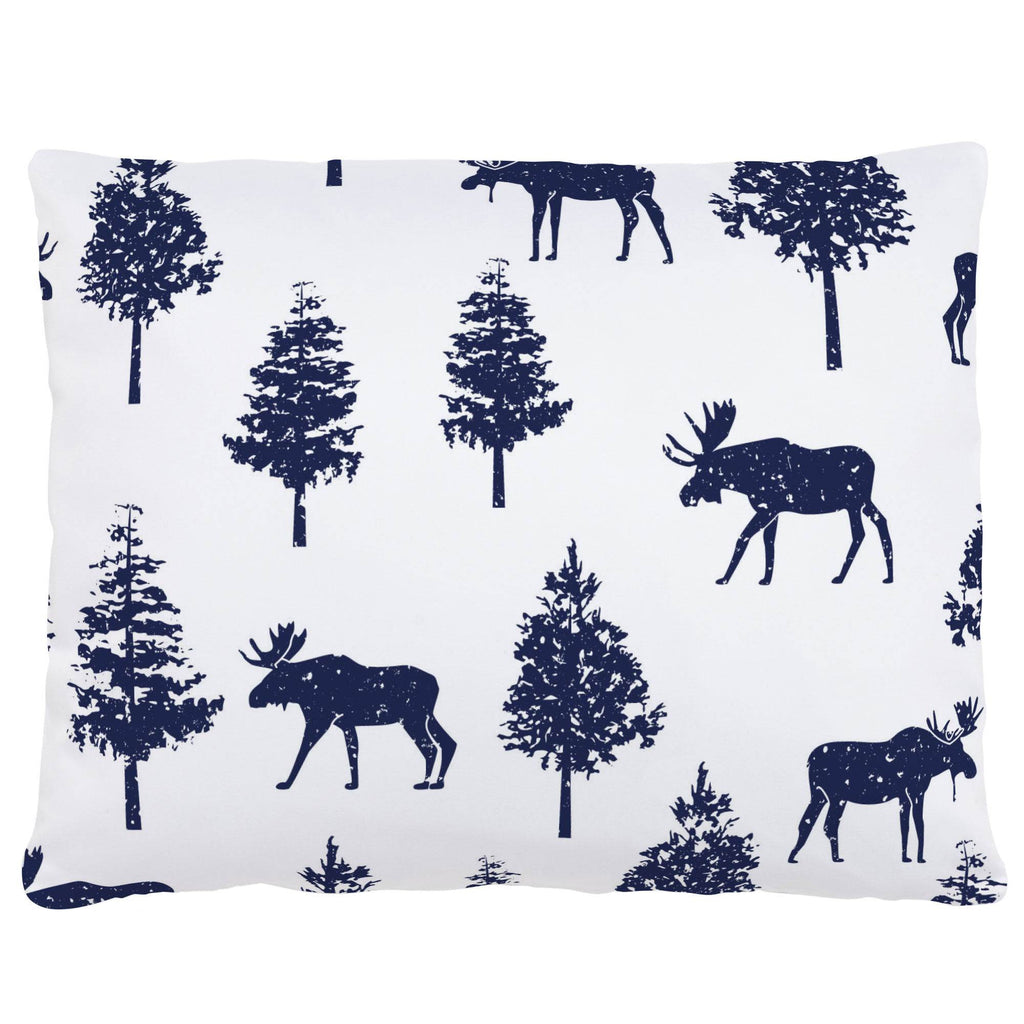 Product image for Navy Moose Accent Pillow