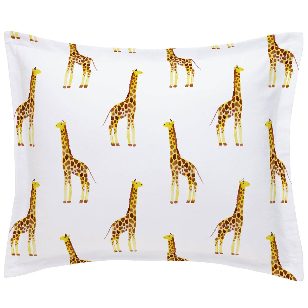 Product image for Painted Giraffe Pillow Sham