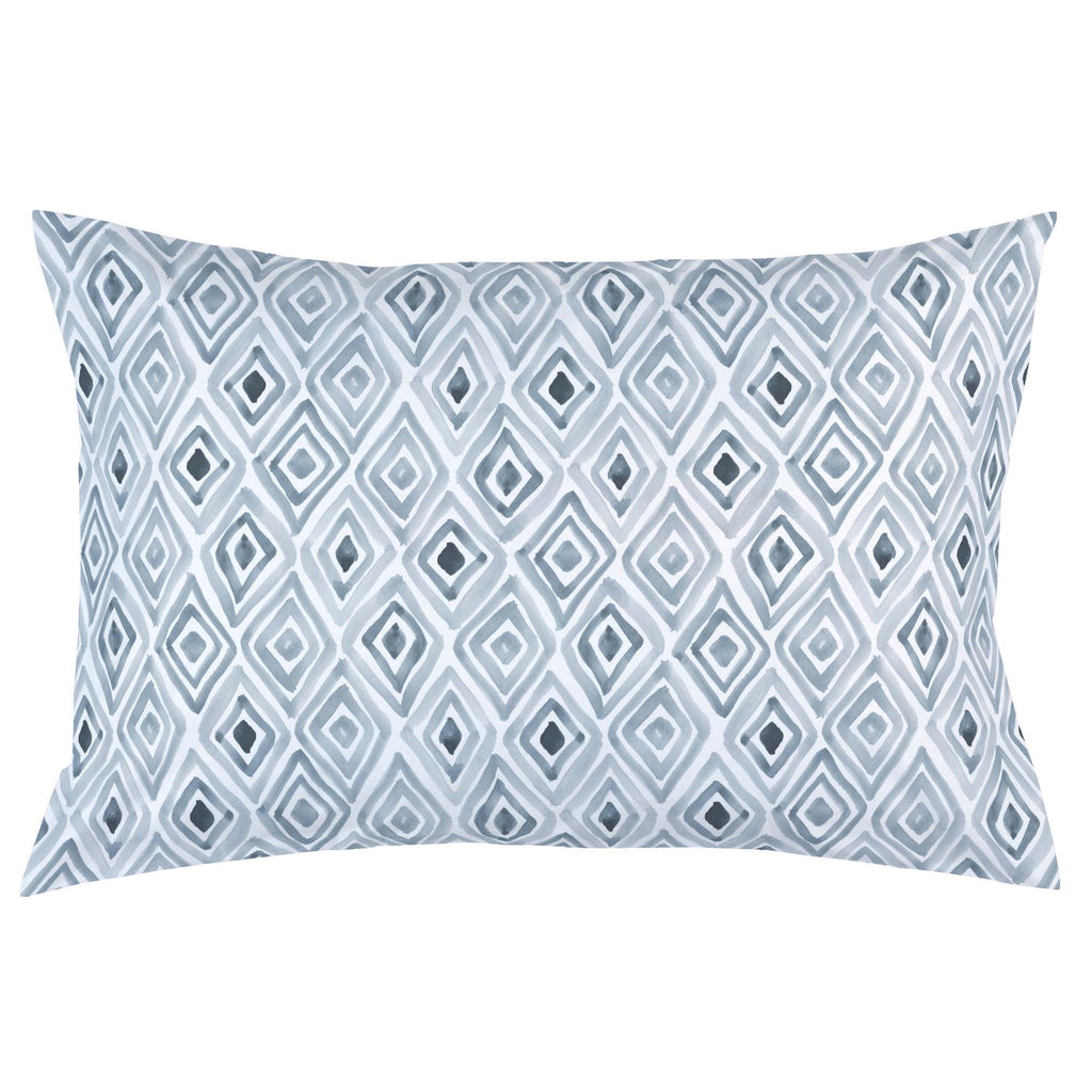 Product image for Steel Blue Painted Diamond Pillow Case