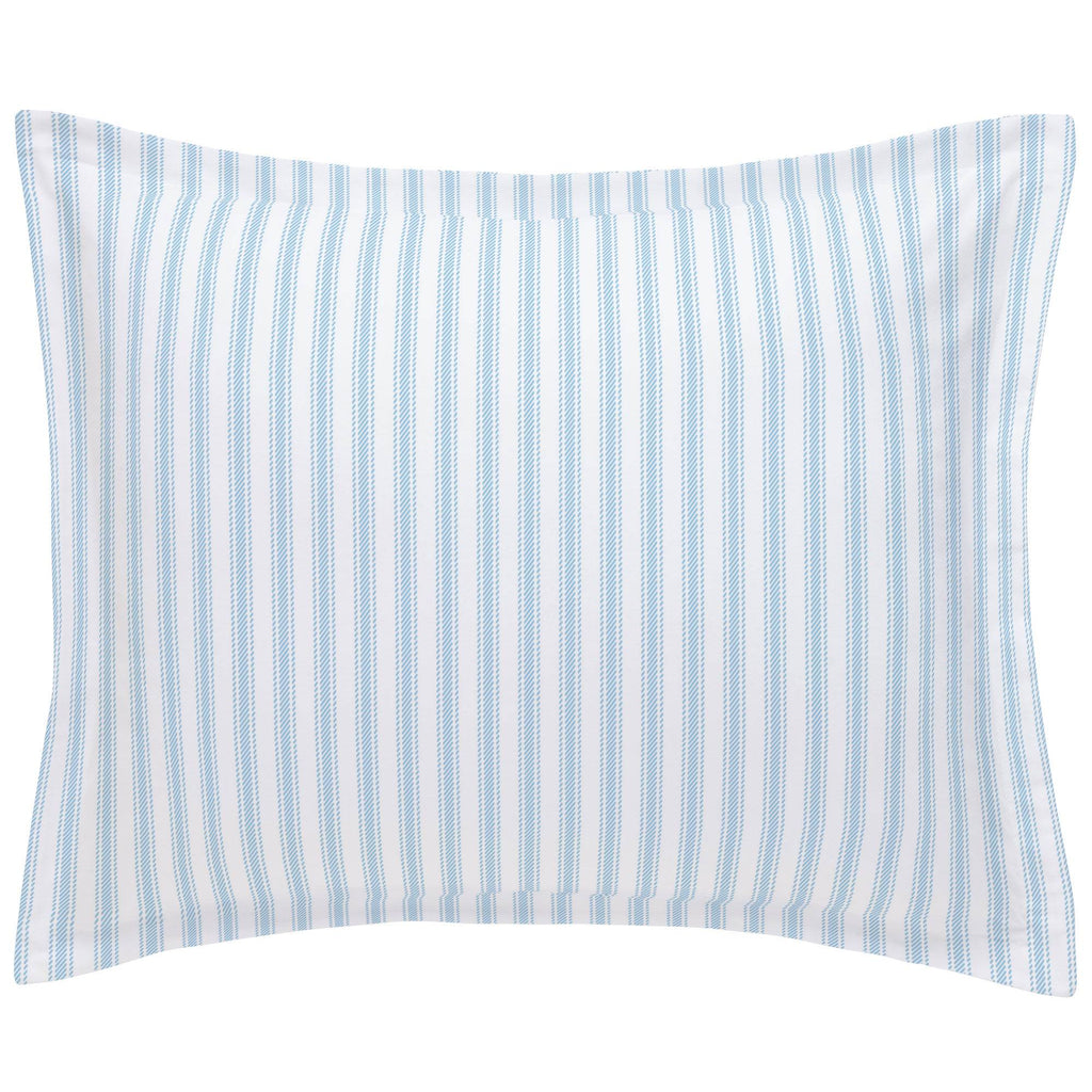 Product image for Lake Blue Ticking Stripe Pillow Sham