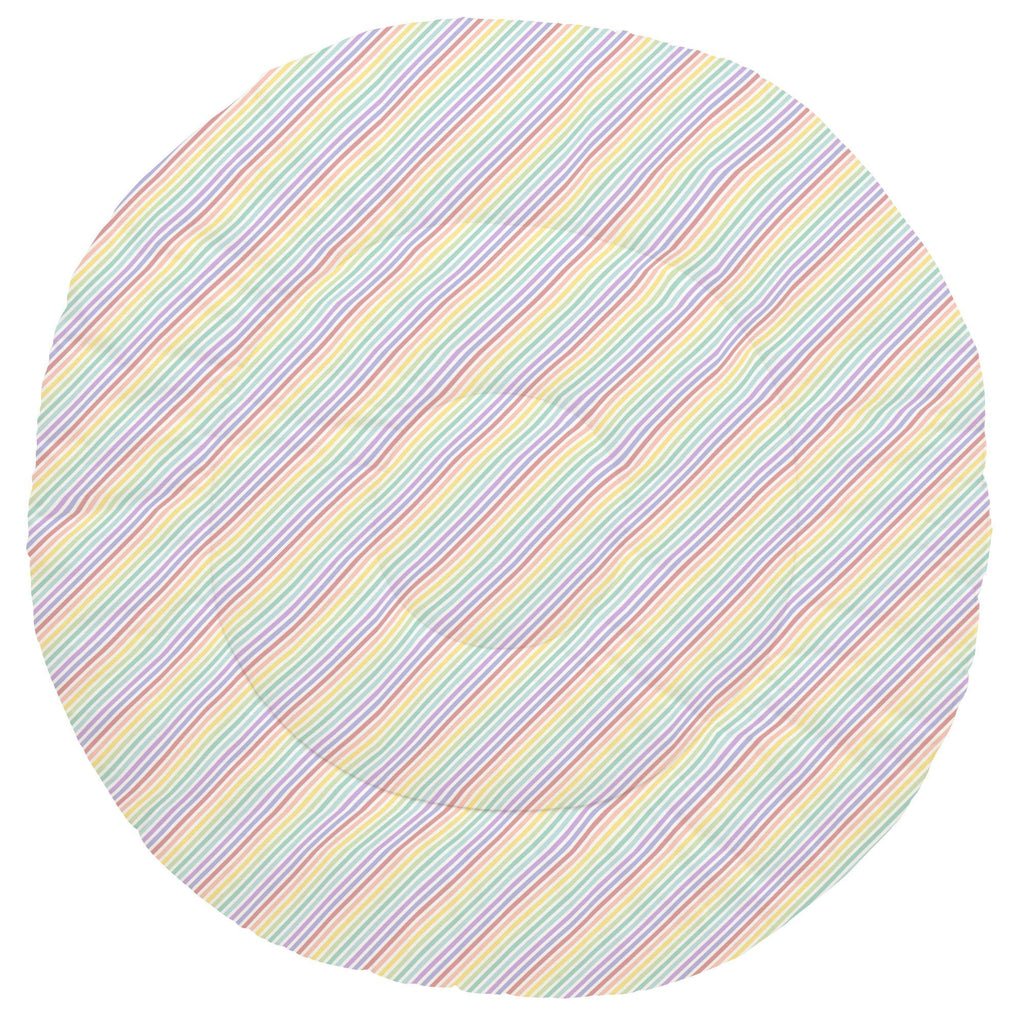 Product image for Pastel Rainbow Stripe Baby Play Mat