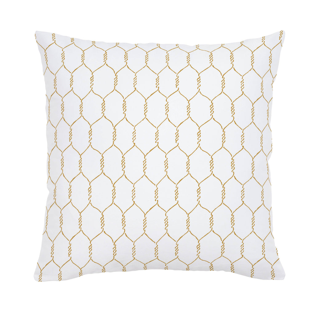 Product image for Mustard Farmhouse Wire Throw Pillow