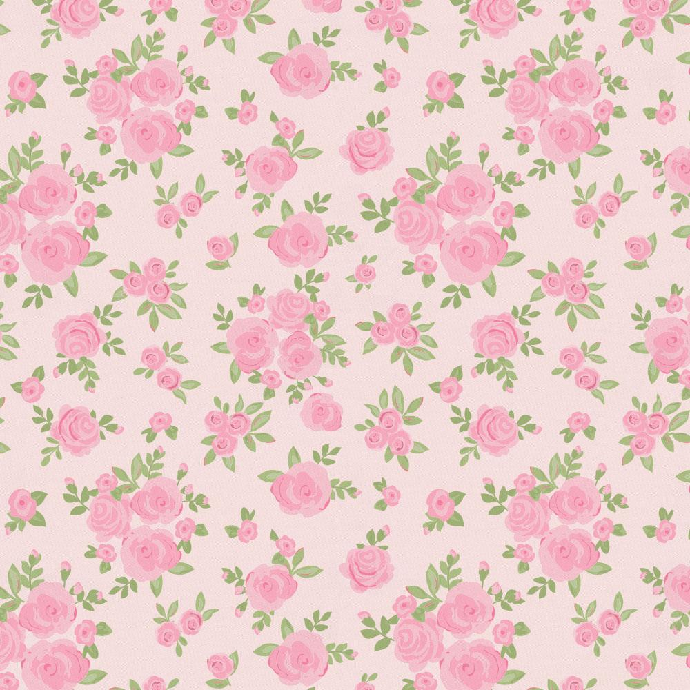 Product image for Pink Rosettes Fabric