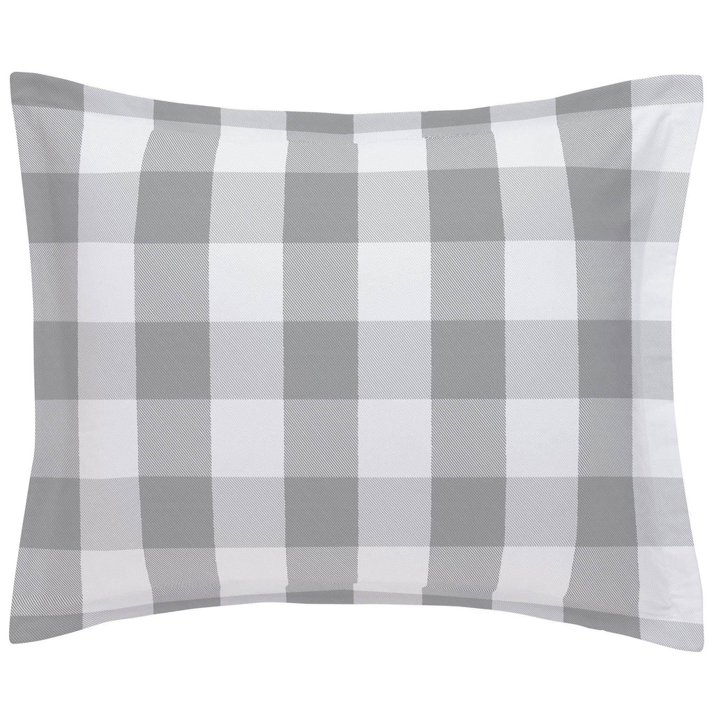 Product image for Gray Buffalo Check Pillow Sham