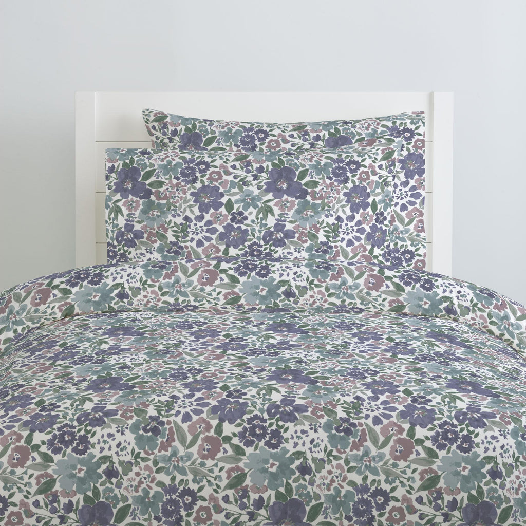 Product image for Purple Prairie Floral Duvet Cover