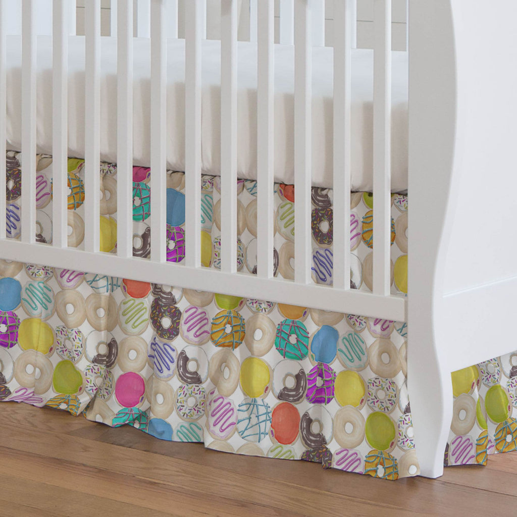 Product image for Donuts Crib Skirt Gathered