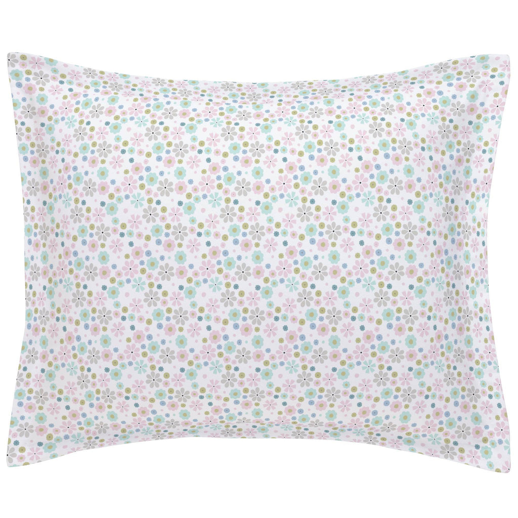 Product image for Pink Spring Flowers Pillow Sham