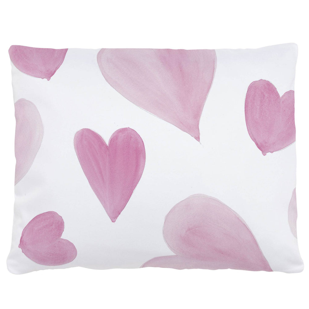 Product image for Pink Watercolor Hearts Accent Pillow