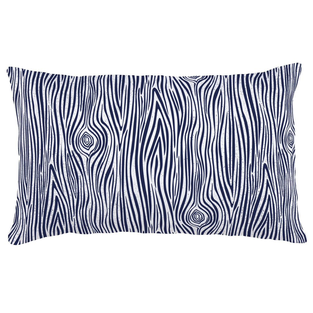 Product image for Navy Woodgrain Lumbar Pillow