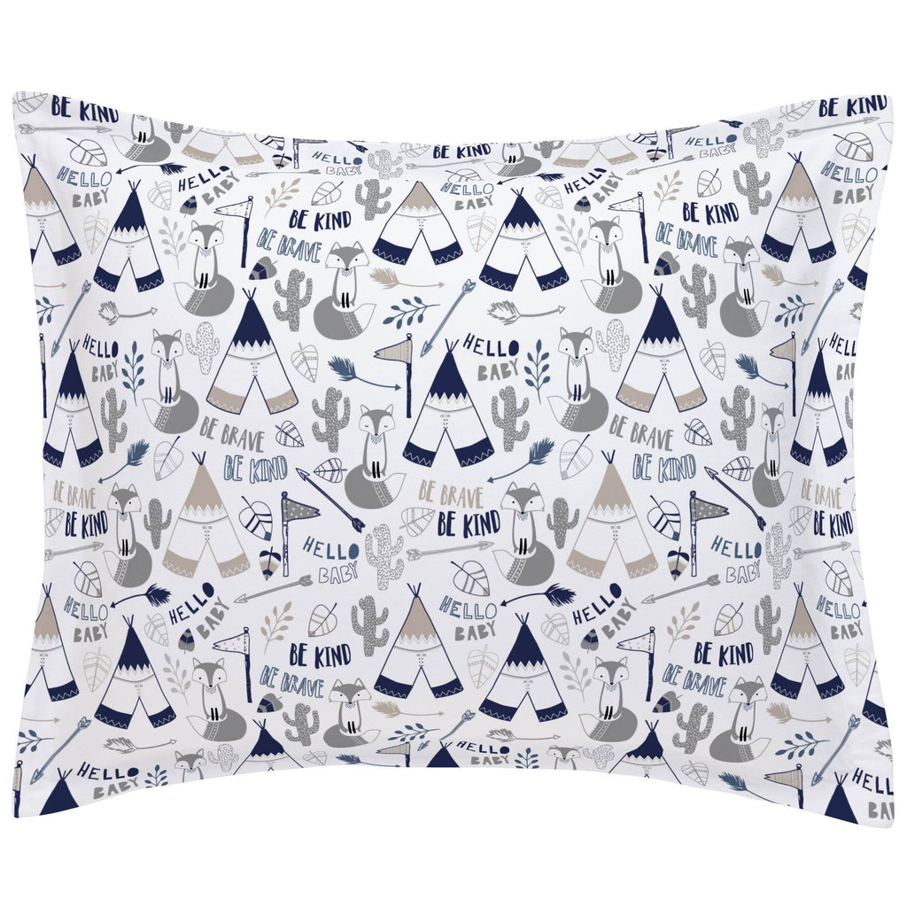 Product image for Navy Brave Fox Pillow Sham